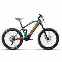 27,5 дюймов Электрический горный велосипед полная подвеска Лесная дорога внедорожный ebike bafang 500 Вт mid motor SHIMAN0 SLX M7000 E MTB