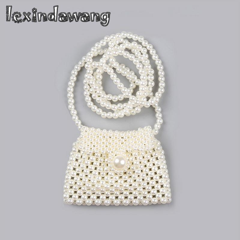 Shoulder Bags Women's Bags 2019 Spring Summer Girls Baby Mini Pearl Messenger Bag Children Cute Small Bag Handmade Purse Japanese Princess Wind Beads Purse With The Best Service