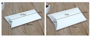 Image 3 - 30pcs כרית קראפט נייר קופסא, קרטון בעבודת יד סבון קופסא, לבן מלאכת נייר אריזת מתנה, מסיבת אריזת תכשיטים