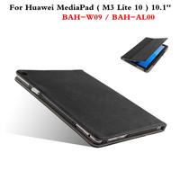 Luxury Genuine Leather Flip Cover Slim Protective Case For Huawei MediaPad M3 Lite 10 BAH W09
