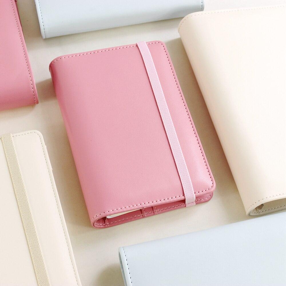Lindo vendaje de cuadernos de espiral planificador diario planificador semanal/persona/programa planificador Ring Binder A5A6
