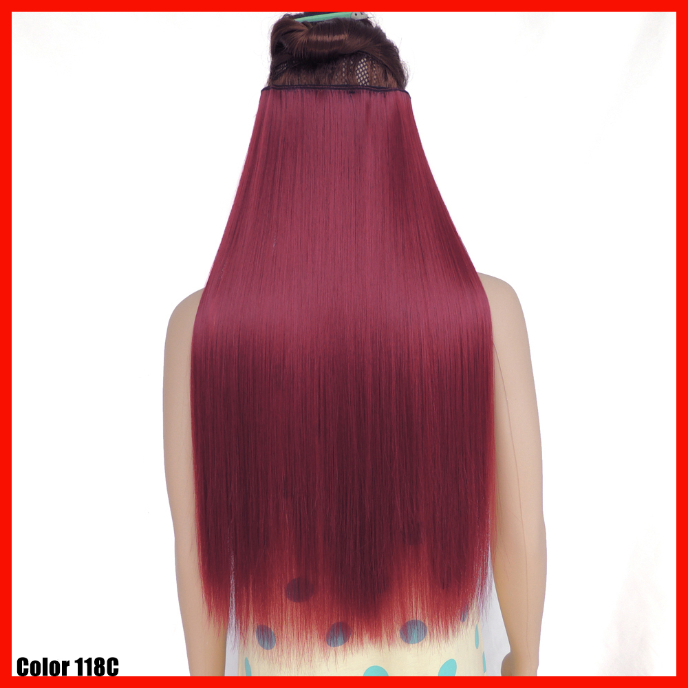 Crazy Color Hair Extension 24 Inch Straight Burgundy Red Secret
