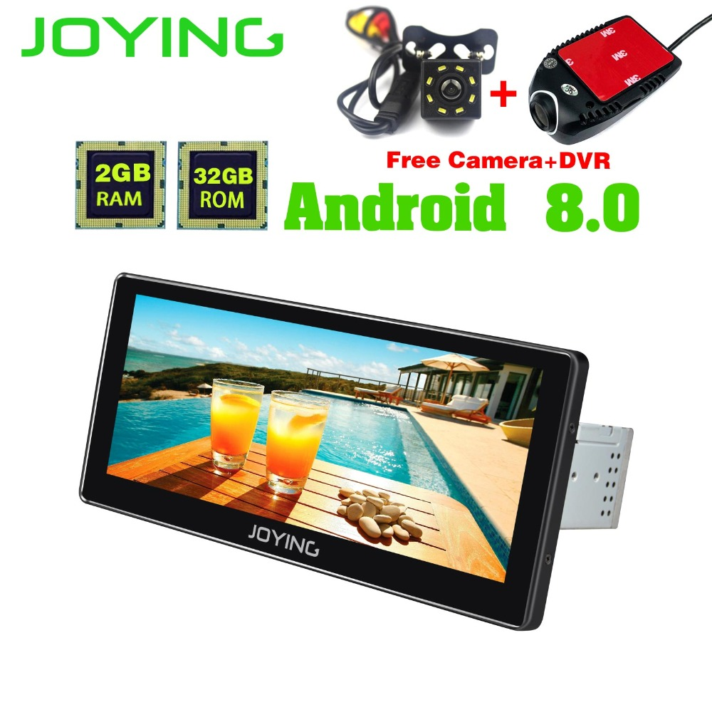10.25Joying Octa Core 2GB+32GB Head Unit Universal Tape Recorder Android Car Radio Audio Stereo GPS Support Steering Wheel OBD2 joying 2gb hd 10 touch screen 2din android 8 0 car auto radio stereo audio steering wheel head unit gps tape recorder free obd