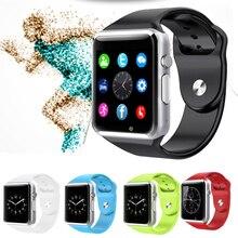 A1 2016 Hombres Mujeres Deporte Podómetro de Pulsera Bluetooth Reloj Inteligente Android Con Ranura SIM Cámara Smartwatch Para Android