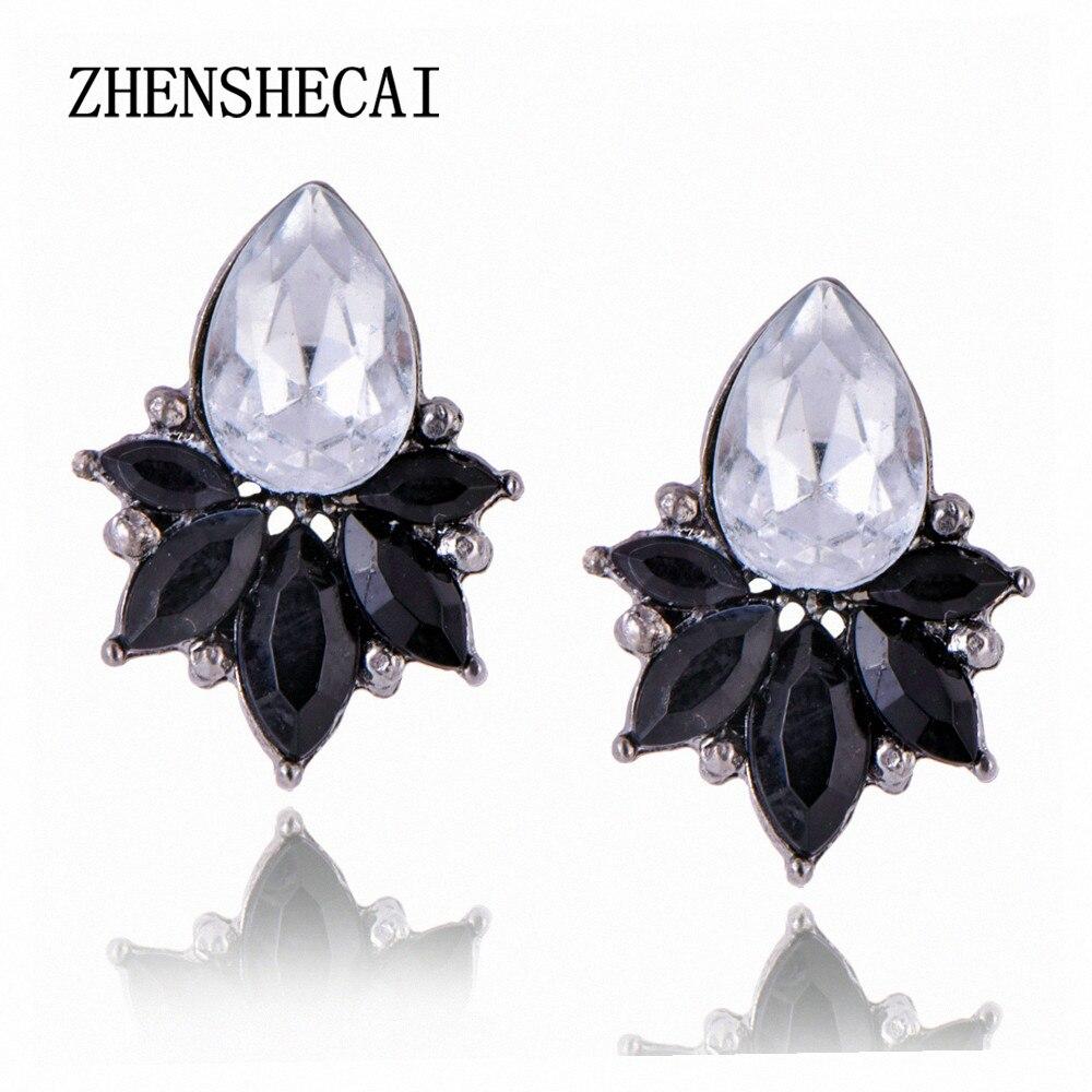 Высокое качество кристалл серьги гвоздики для женщин круглый горный хрусталь падение стиль e0223