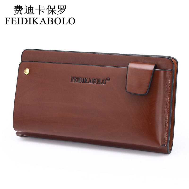 new 2015 polo men leather business wrist clutch bag