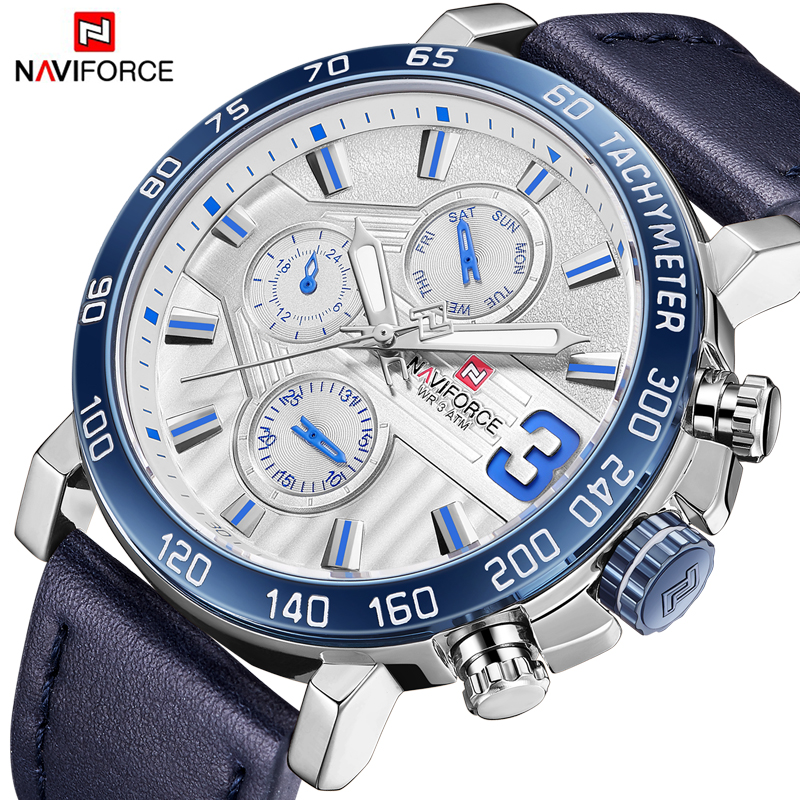 Top Brand Luxury NAVIFORCE Watches Men Fashion Leather Quartz Date 6 dial Clock Casual Sports Male Wrist Watch Montre Homme top brand luxury naviforce watches men fashion leather quartz date big dial clock casual sports male wrist watch montre homme