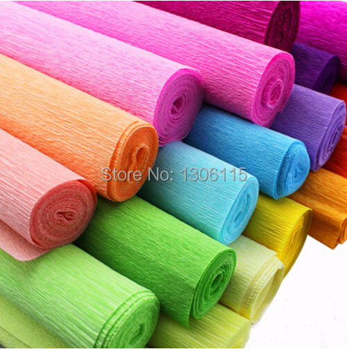 Wholesale 13roll Lot Monochromatic Wrinkle Florist