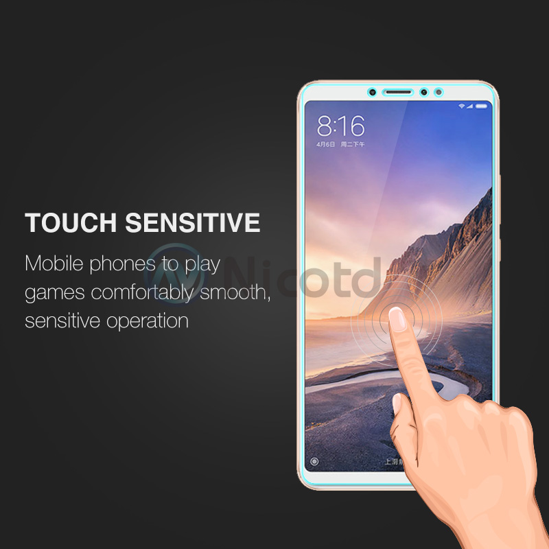 Nicotd Tempered Glass For Xiaomi Mi MAX 3 Screen Protector 9H 2.5D Phone On Protective Glass For Xiaomi Mi MAX 2 1 mimax film