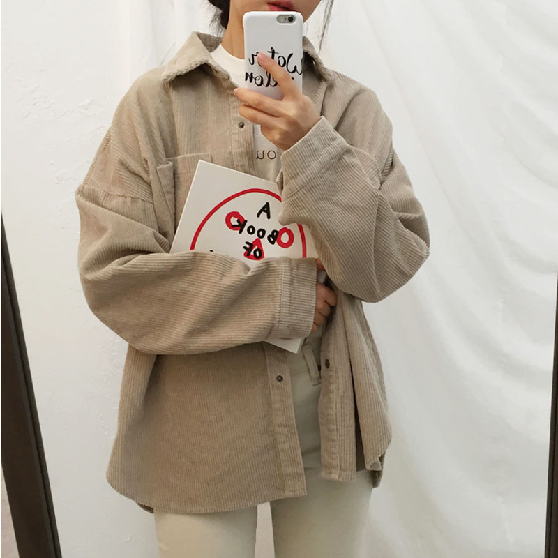 277290d3a50fc Harajuku Corduroy Jackets Women Winter Autumn Coats Plus Size Overcoats  Female Big Tops Cute Jackets Solid Color Clothing Red-in Basic Jackets from  Women s ...