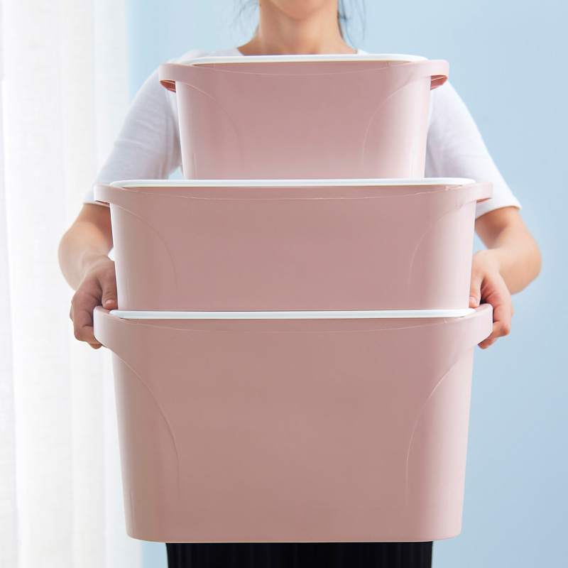Plastic clothes storage box wardrobe finishing boxes large covered clothing storage box-in Storage Boxes u0026 Bins from Home u0026 Garden on Aliexpress.com ... & Plastic clothes storage box wardrobe finishing boxes large covered ...