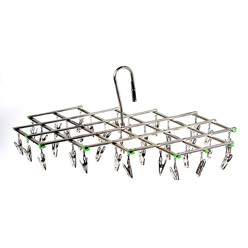 35 Pegs Stainless Steel Laundry Socks Washing Clothes Airer Dryer Rack Hanger G1