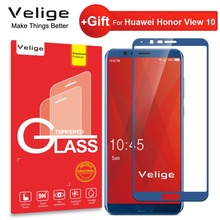 цена на Velige Real 2.5D Full Cover Tempered Glass for Huawei Honor View 10 Honor V10 V 10 Screen Protector HD Clarity Glass Film
