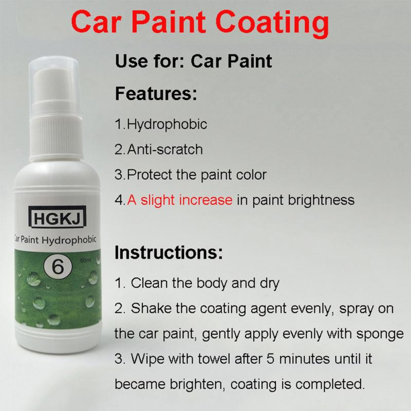 20/50ml Multifunctional Anti-scratch Deep Gloss Car Windshield Glass Hydrophobic Coating Waterproof Agent Paint Coating(China)