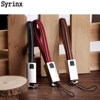 SYRINX KeyChain Charger Cable Portable Charging Sync Data Cord USB For iPhone Samsung Micro USB Cable / For Lightning Type C