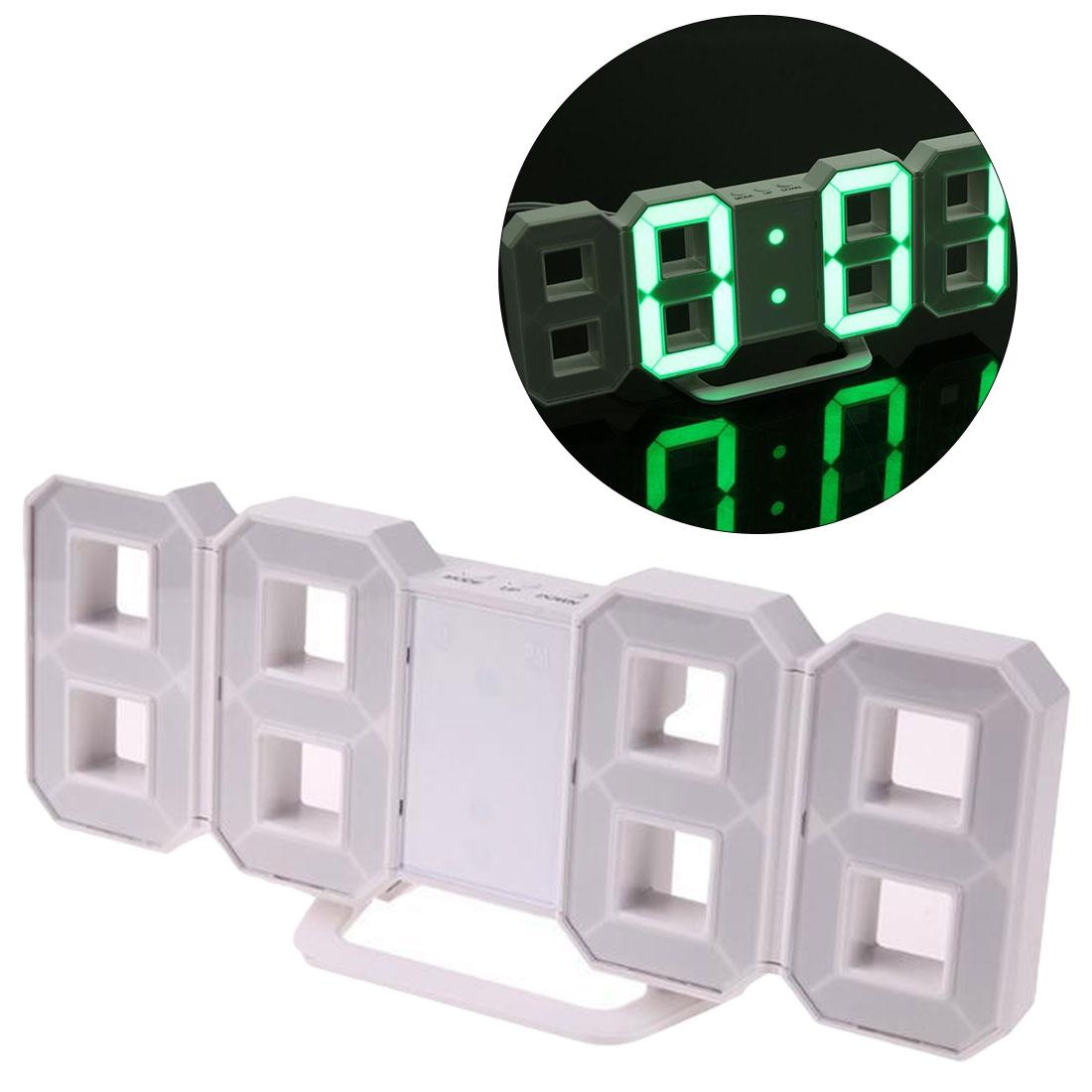 Digital LED Table Clock Watches 24 Or 12-Hour Display Mechanism Alarm Snooze Desk Clock Modern Wall Clock