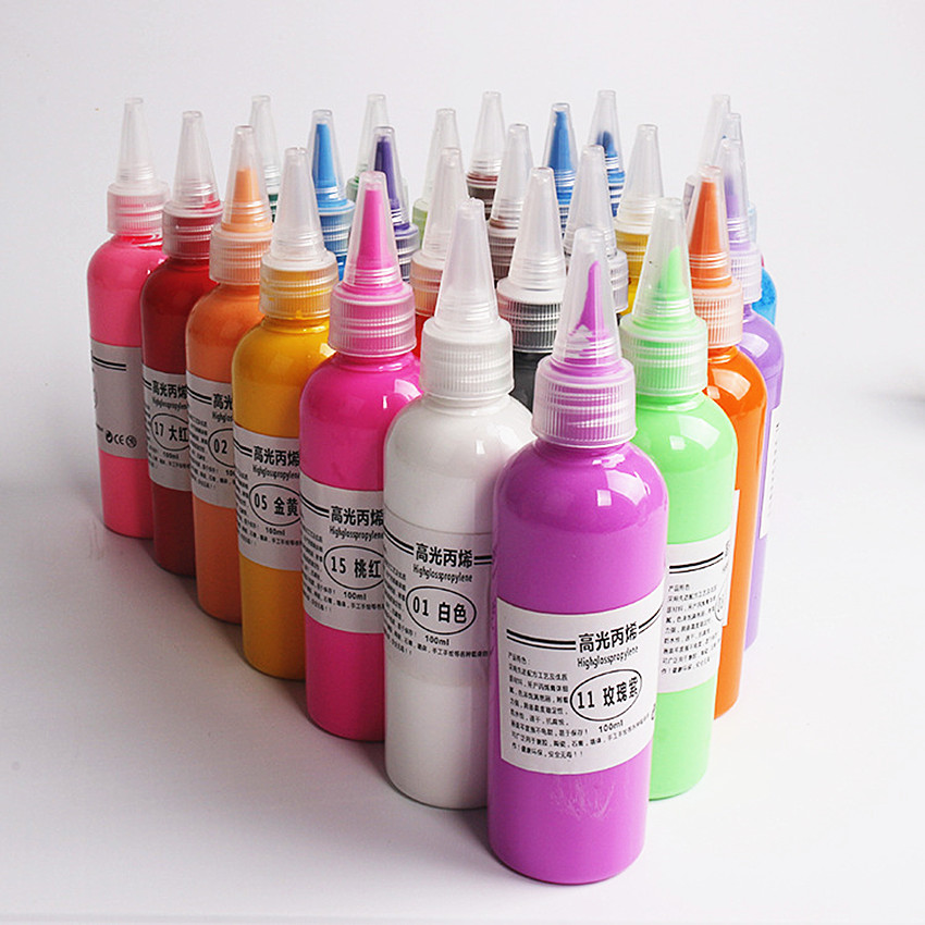1PC 12 Color Professional Acrylic Paints Hand Painted Wall Painting Textile Paint Graffiti Brightly Colored Art Drawing Supplies