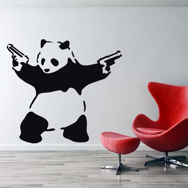 Buy Banksy Panda Wall Sticker Home Decor