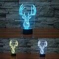 ELK 3D Luz de La Noche de Acrílico Led Bulbo de la Ilusión Óptica Milu Ciervos Regalo de Navidad Mood Lámpara de Noche Dormitorio infantil Luminaria