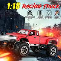 Hot RC Car 2.4ghz 1:18 Remote Control Car Electric Monsters Truck 4WD Four Wheels Off Road Vehicle Red/Blue