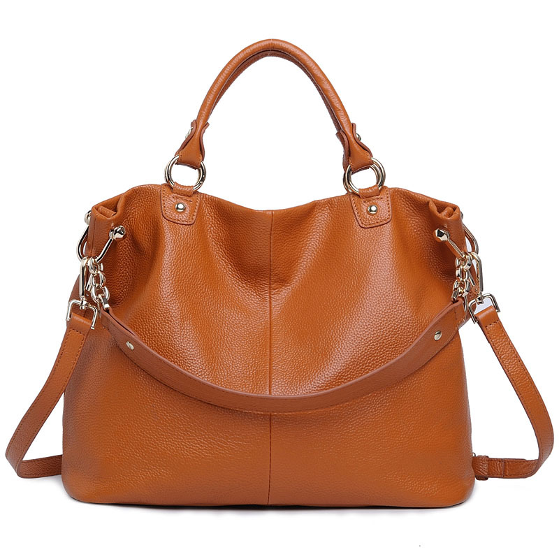Brand Genuine Leather Women's Handbags Designer Tote Bag Purses Vintage Brown Women Shoulder Bag Ladies Crossbody Messenger Bags