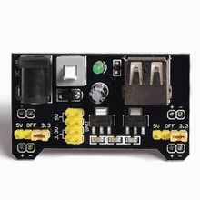 Free Shipping  Bread board dedicated power module compatible 5V, 3.3V Breadboard power module Power module for arduino