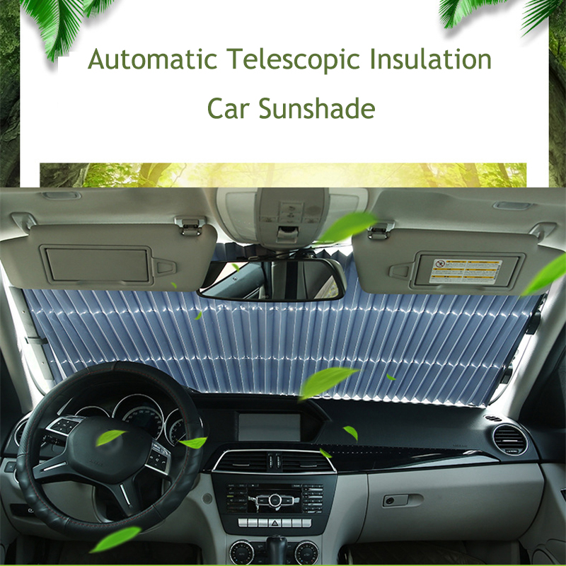 Image 2 - Upgrade Car Windshield Sun Shade Automatic Extension Car Cover Window Sunshade UV Sun Visor Protector Curtain 46CM/65CM/70CM-in Windshield Sunshades from Automobiles & Motorcycles