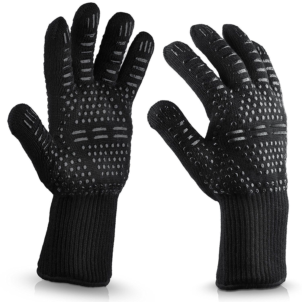Enipate 300-500 Centigrade Extreme Heat Resistant BBQ Gloves - Lining Cotton - For Cooking Baking Grilling Oven Mitts
