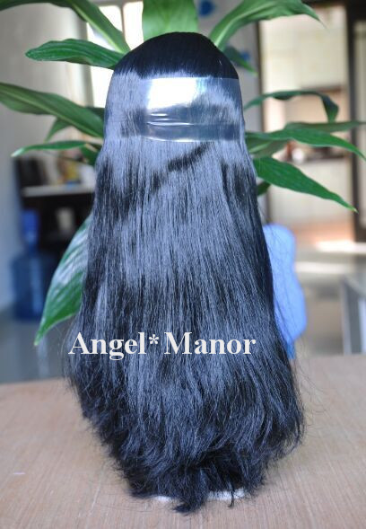 ФОТО blyth scalp, hair for Blyth doll with scalp, black  long hair, the hair from side to side.   For Girl's Gift