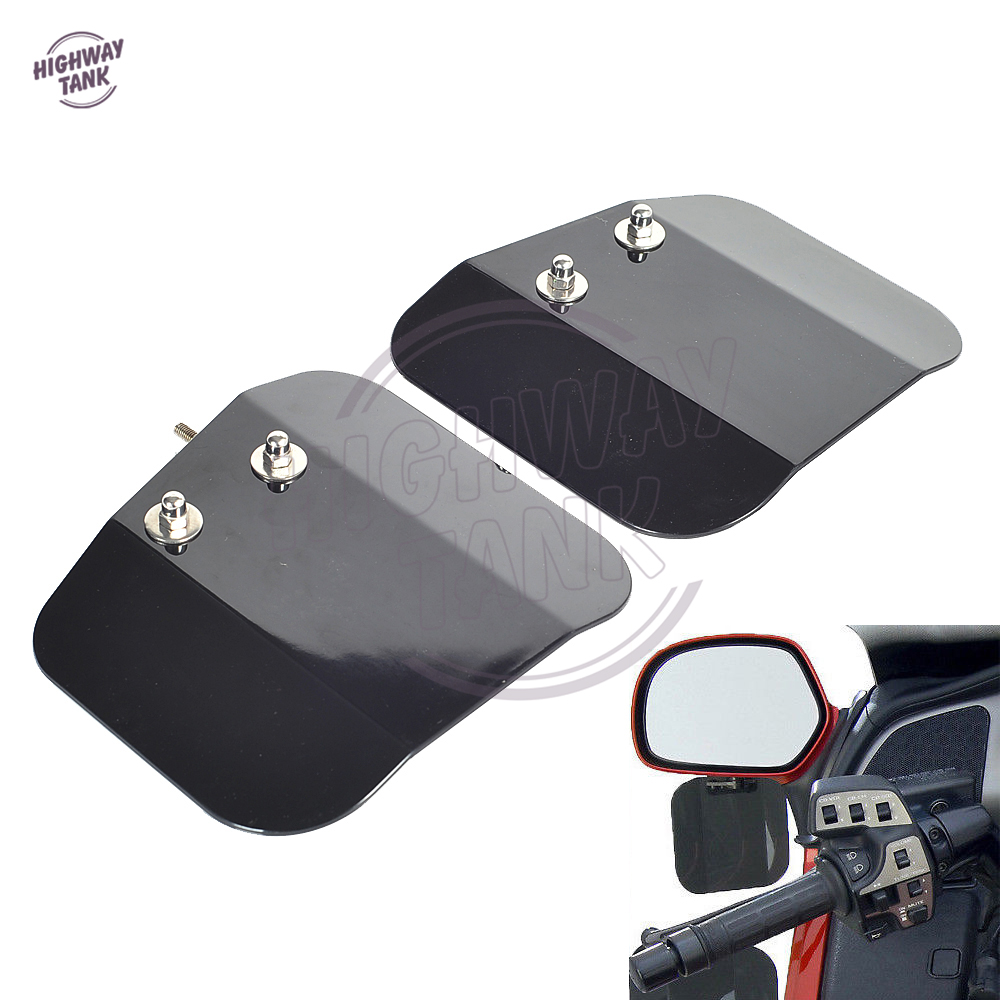 Black Motorcycle Mirror Mount Wind Deflectors Shield Case for HONDA Goldwing GL1800 F6B new 4pcs blade side windows deflectors door sun visor shield for citroen c4 grand picasso 7 seats 2017