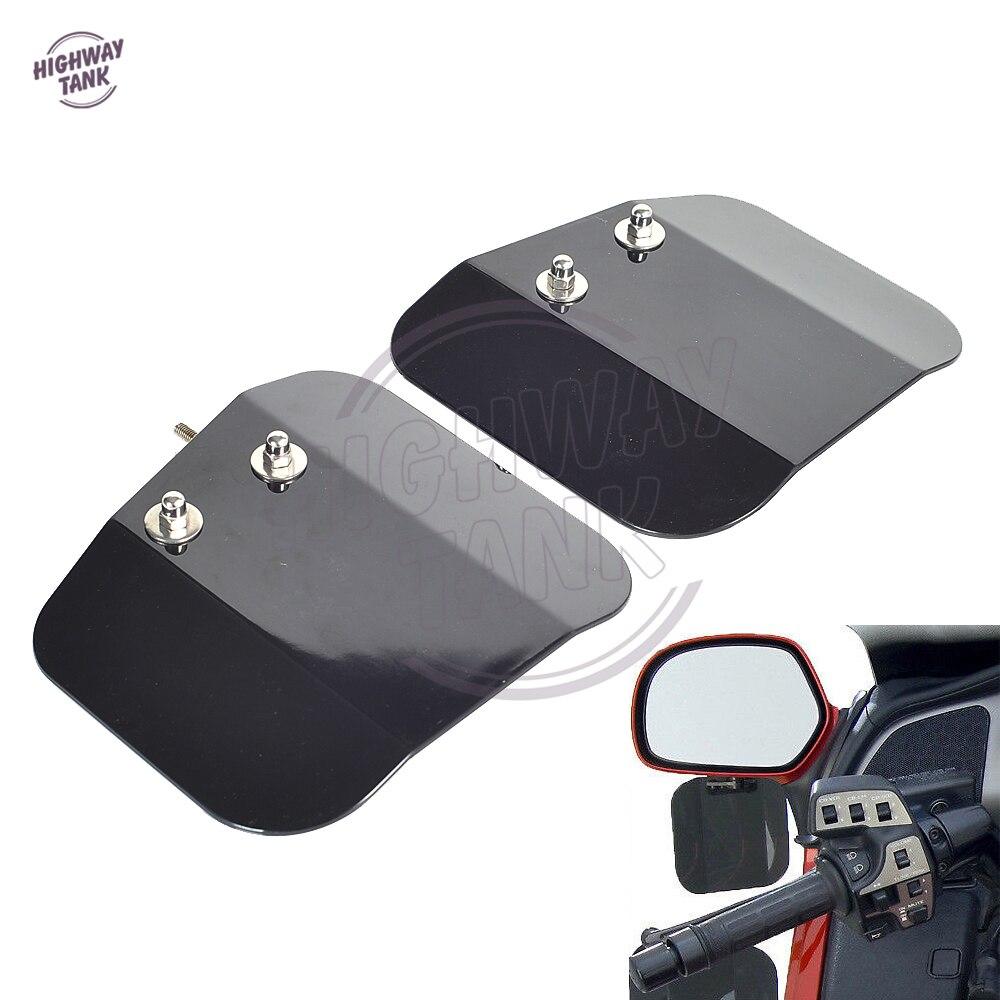 Noir Moto Miroir Montage Vent Déflecteurs Bouclier Cas pour HONDA Goldwing GL1800 F6B