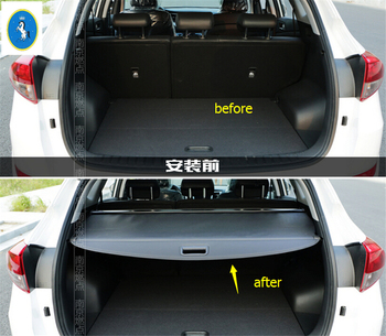 Yimaautotrims Auto Accessory Rear Tail Back Tailgate Trunk Box Security Shade Shield Cover Kit For Hyundai Tucson 2016 - 2020