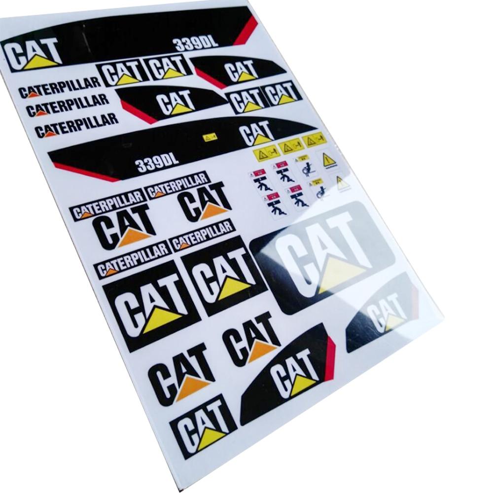 Stiker untuk 1 12 rc hidrolik kucing komatsu liebherr excavator model