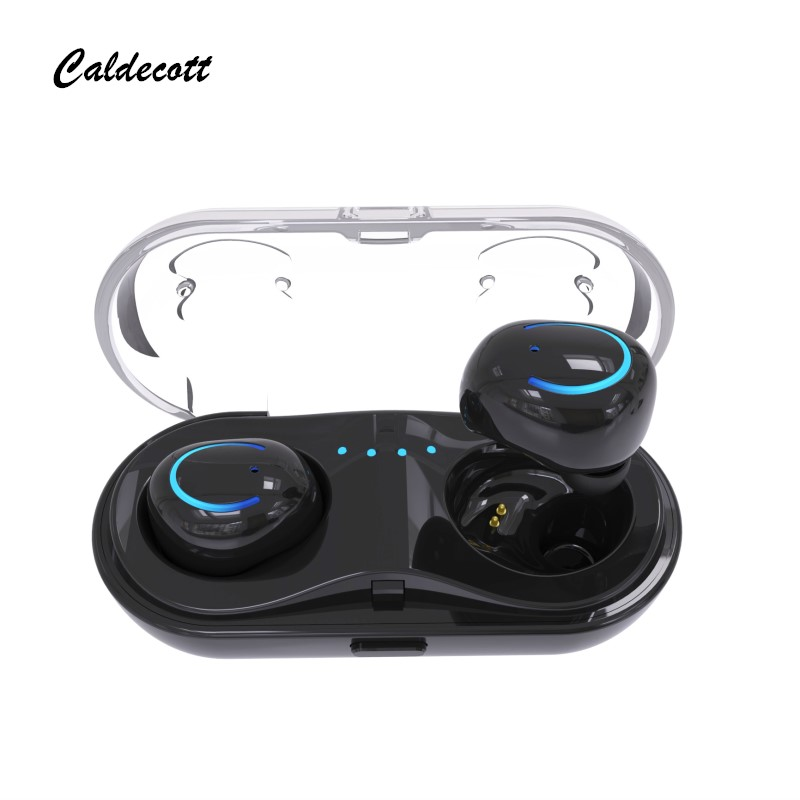 New <font><b>Original</b></font> Q18 <font><b>TWS</b></font> Mini Bluetooth Earphones True Wireless Earbuds Stereo Binaural Call Hifi Headset With Box White Red image