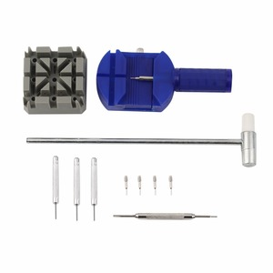 11pcs / Kit вахты металла диапазона и браслет Link Remover Repair Tool Ремонт часы группы Ремень для снятия Инструменты Часы Аксессуары
