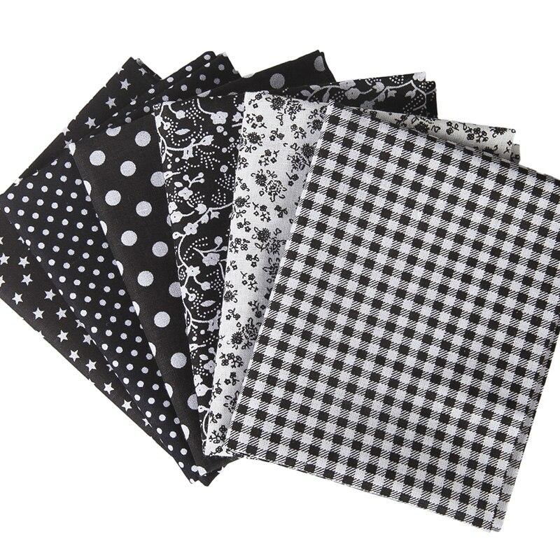 Series 7 pieces Orange DIY Pre-Cut Fat Quarters Bundle Charm Cotton Quilt Fabric