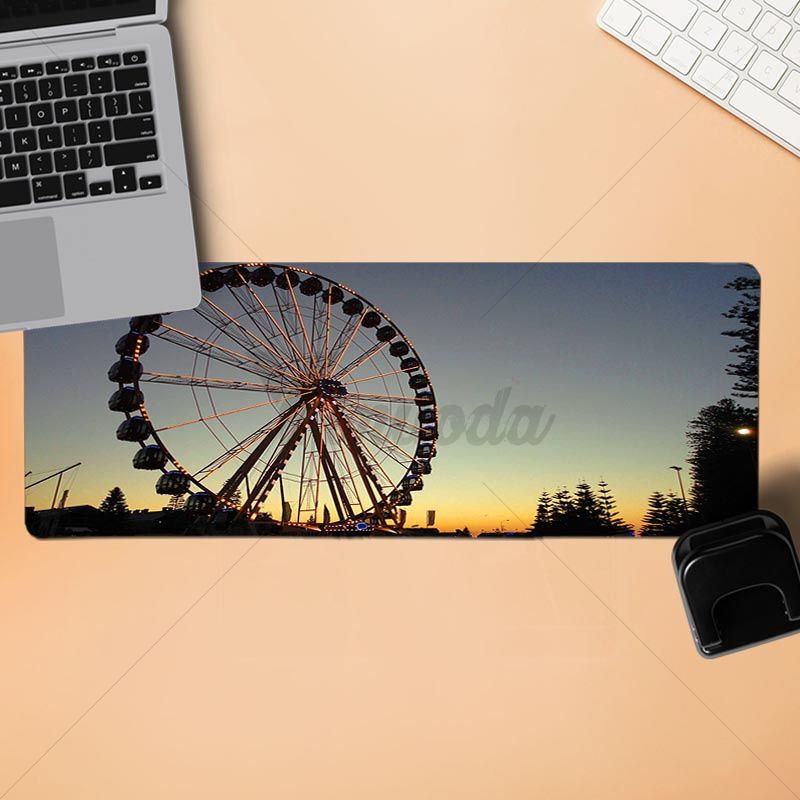 Yinuoda PC Stylish cool Mouse Pad City Ferris Wheel Gamer Speed Mice Mousepad Size for 18x22cm 20x25cm 25x29cm 30x90cm 40x90cm