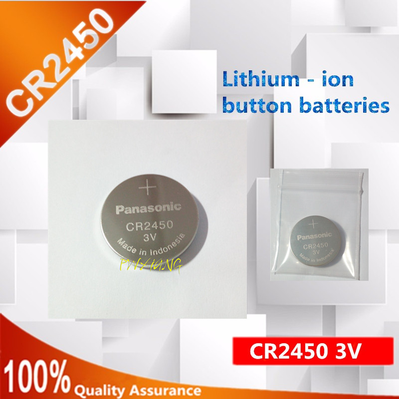 High quality new 4x 550MAH CR2450 <font><b>3V</b></font> Lithium Battery <font><b>CR</b></font> <font><b>2450</b></font> DL2450 Button Cell Batteries image