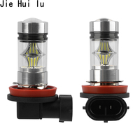 1pcs H8 H11 Led Bulb 9006 Hb4 9005 Hb3 Car Fog Lights 12v~24v 20 Smd 3030 Daytime Running Lamp Drl Auto Led Light 6000k White