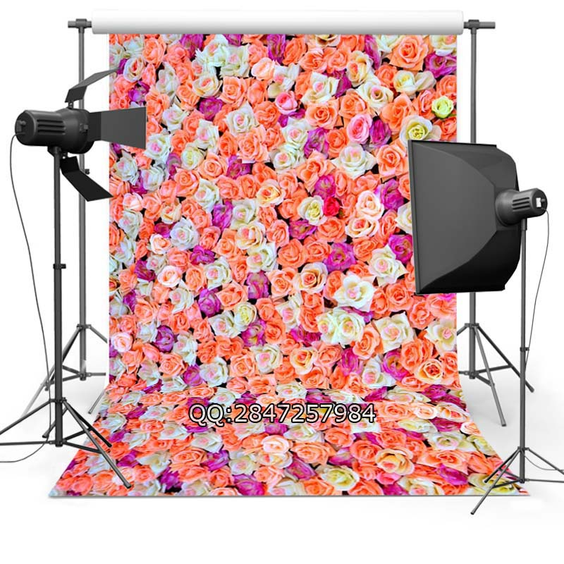 Vinyl Photography Background Flowers Valentine's Day Wood floor Computer printed Wedding Backdrops for Photo Studio  F-2374 10x10ft vinyl backdrops for photography valentine day photography background qr217