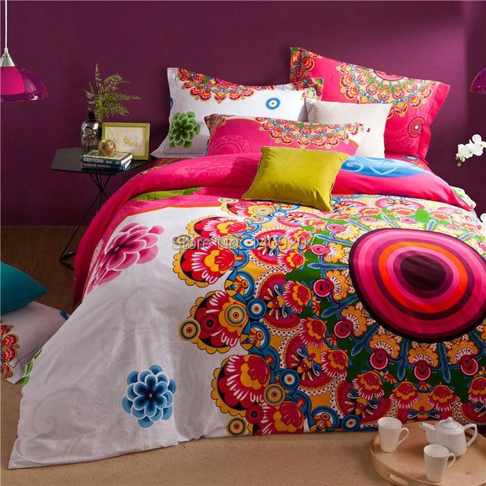 drap housse oriental Orient housse de couette de style défini avec drap de lit 4 pcs  drap housse oriental