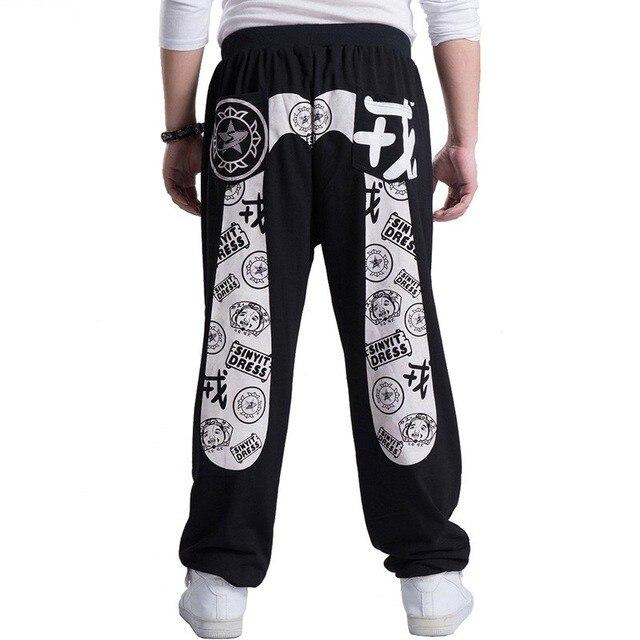 Livraison gratuite printemps automne hip hop décontracté grande taille noir Cargo pantalon pour hommes coton lâche Baggy Harem pantalon grandes poches latérales