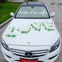 European Main Wedding Car Decoration LVOE Wedding Supplies Roses Artificial Flowers Fake Wreath Silk Garland