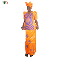 2018 african traditional embroidery tops dresses for women skirt set africa bazin riche clothing traditional outfit suits