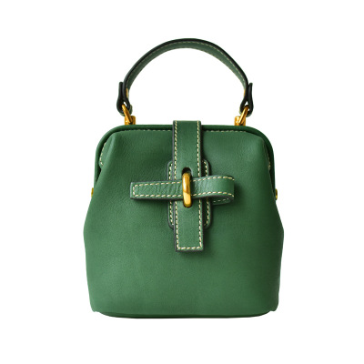 2018 spring summer small genuine leather bag for women vintage green crossbody bag lady fresh cute cowhide one shoulder bag japanese pouch small hand carry green canvas heat preservation lunch box bag for men and women shopping mama bag
