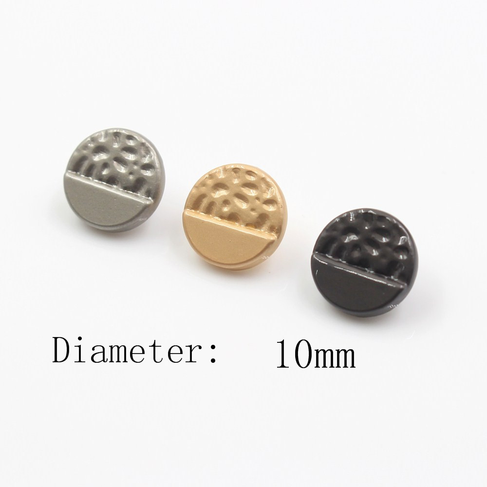 <font><b>10mm</b></font> 10pcs/lot smooth metal <font><b>button</b></font> gold sweater coat decoration shirt <font><b>buttons</b></font> accessories DIY JS-0042 image