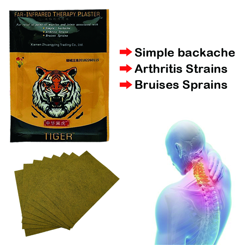 8Pcs/bag Tiger Balm Pain Patch Chinese Medical Plaster Shoulder Muscle Arthritis Joint Pain Relief Stickers C336