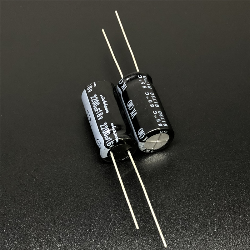10 un.//100 un 16V2200UF 16V Nichicon VY 10x20 amplio rango de temperatura Condensador