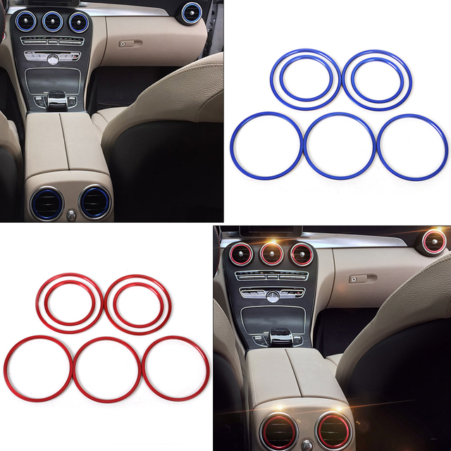 DWCX Car Styling 7pcs Interior Air Condition AC Vent Outlet Trim Cover for Mercedes Benz C-Class W205 2014 2015