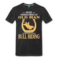 Never Underestimate Bull Riding Funny Slogan Men's Premium T-Shirt Men High Quality Tees New Summer Style Top Tee T Shirt